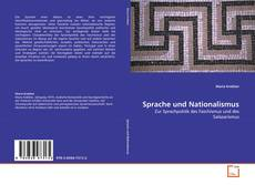 Capa do livro de Sprache und Nationalismus