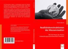 Realitätskonstruktionen der Massenmedien kitap kapağı