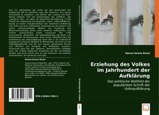 Bookcover of Erziehung des Volkes im Jahrhundert der Aufklärung