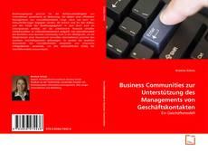 Buchcover von Business Communities zur Unterstützung des Managements von Geschäftskontakten