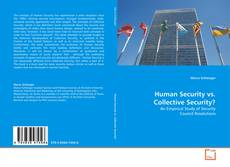 Buchcover von Human Security vs. Collective Security?