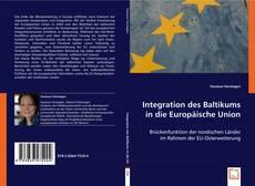 Buchcover von Integration des Baltikums in die Europäische Union