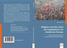 Buchcover von Religion und der Geist des Kapitalismus im modernen Europa