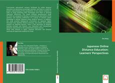 Capa do livro de Japanese Online Distance Education: Learners' Perspectives