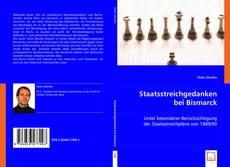 Capa do livro de Staatsstreichgedanken bei Bismarck