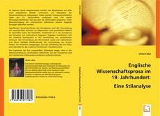 Buchcover von Englische Wissenschaftsprosa im 19. Jahrhundert: Eine Stilanalyse.