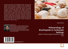 Capa do livro de Paleoecology of Brachiopods in Carbonate Settings