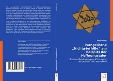 """Buchcover von Evangelische """"Nichtarierhilfe"""" am Beispiel der Hoffnungstaler Anstalten Lobetal"""