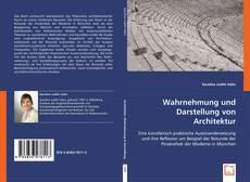 Buchcover von Wahrnehmung und Darstellung von Architektur