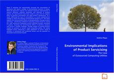 Buchcover von Environmental Implications of Product Servicising