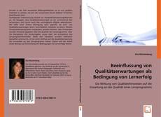 Buchcover von Beeinflussung von Qualitätserwartungen als Bedingung von Lernerfolg