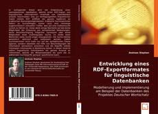 Bookcover of Entwicklung eines RDF-Exportformates für linguistische Datenbanken