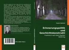 Buchcover von Erinnerungspolitik und Geschichtskonstruktion.