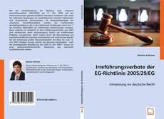 Buchcover von Irreführungsverbote der EG-Richtlinie 2005/29/EG