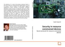 Capa do livro de Security in resource constrained devices