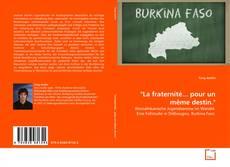 """Bookcover of """"La fraternité... pour un même destin."""""""