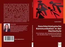 Portada del libro de Geschlechtstypische Kommunikation in der Hochschule
