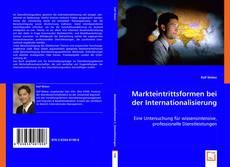 Capa do livro de Markteintrittsformen bei der Internationalisierung