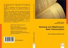 Nutzung von Objektwissen beim Textverstehen kitap kapağı