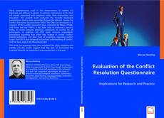 Bookcover of Evaluation of the Conflict Resolution Questionnaire