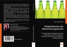 Buchcover von Erfolgsfaktoren des Markenmanagements