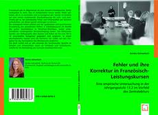 Couverture de Fehler und ihre Korrektur in Französisch-Leistungskursen