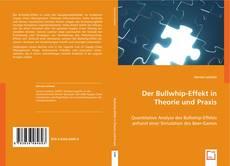 Couverture de Der Bullwhip-Effekt in Theorie und Praxis