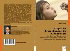 Buchcover von Atopische Erkrankungen im Kindesalter: Genetik und Umwelt