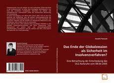 Bookcover of Das Ende der Globalzession als Sicherheit im Insolvenzverfahren?