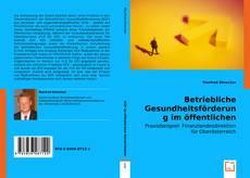 Bookcover of Betriebliche Gesundheitsförderung im öffentlichen Dienst/Sektor