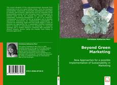 Bookcover of Beyond Green Marketing