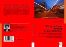 Bookcover of Wirtschaft und Bildung in der VR China