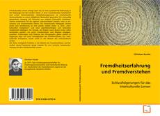 Capa do livro de Fremdheitserfahrung und Fremdverstehen
