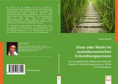 Staat oder Markt im sozioökonomischen Entwicklungsprozess kitap kapağı