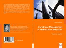 Bookcover of Constraint Management in Production Companies