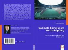 Buchcover von Optimale kommunale Wertschöpfung