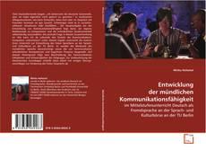 Capa do livro de Entwicklung der mündlichen Kommunikationsfähigkeit