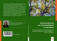 Buchcover von Kommunikation von Nachhaltigkeit in Betrieben