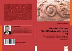 Buchcover von Geschichte der Rundfunkgesetzgebung