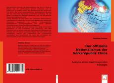 Capa do livro de Der offizielle Nationalismus der Volksrepublik China