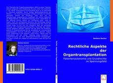 Buchcover von Rechtliche Aspekte der Organtransplantation