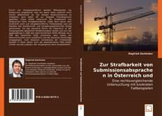 Bookcover of Zur Strafbarkeit von Submissionsabsprachen in Österreich und Deutschland