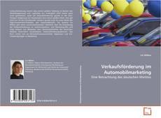 Capa do livro de Verkaufsförderung im Automobilmarketing
