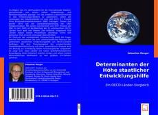 Capa do livro de Determinanten der Höhe staatlicher Entwicklungshilfe