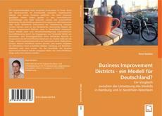 Buchcover von Business Improvement Districts - ein Modell für Deutschland?