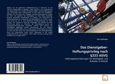 Capa do livro de Das Dienstgeber- Haftungsprivileg nach §333 ASVG