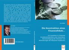 Couverture de Die Konstruktion eines Finanzvehikels