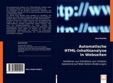 Couverture de Automatische HTML-Inhaltsanalyse in Webseiten