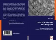 Обложка Künstlerische Kritik und Kooption