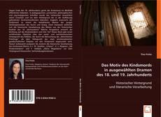 Bookcover of Das Motiv des Kindsmords in ausgewählten Dramen des 18. und 19. Jahrhunderts